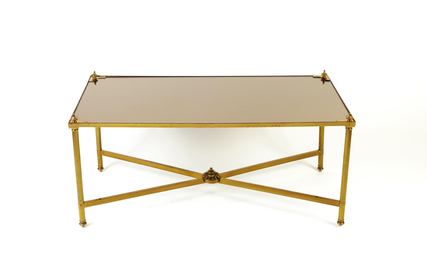 Lacquered brass coffee table