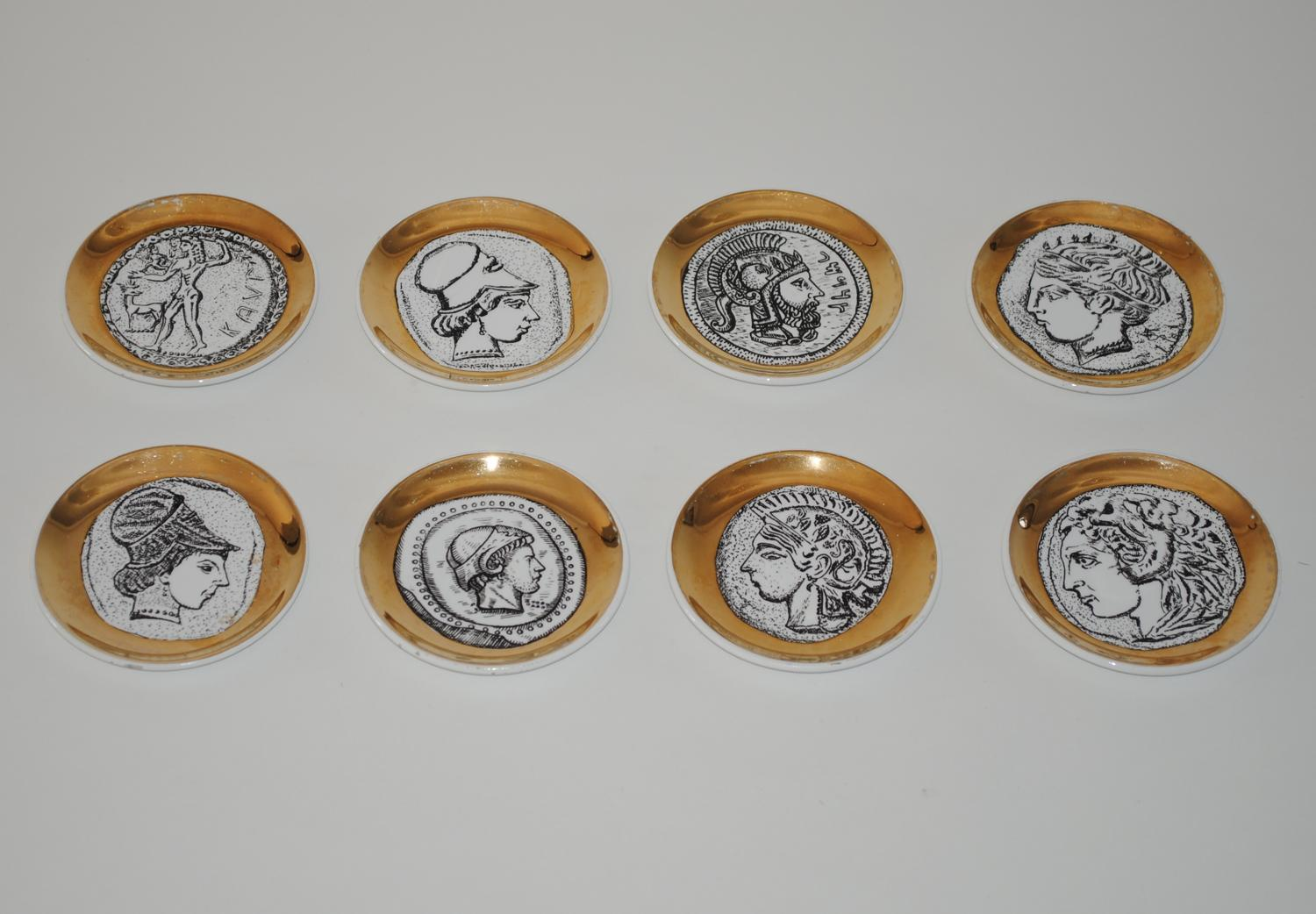 Set of porcelain coasters