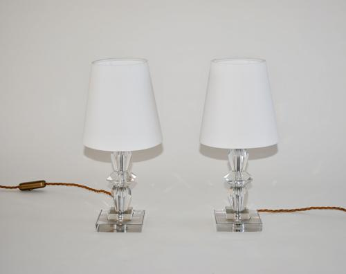 Pair of French Art Deco bedside lamps