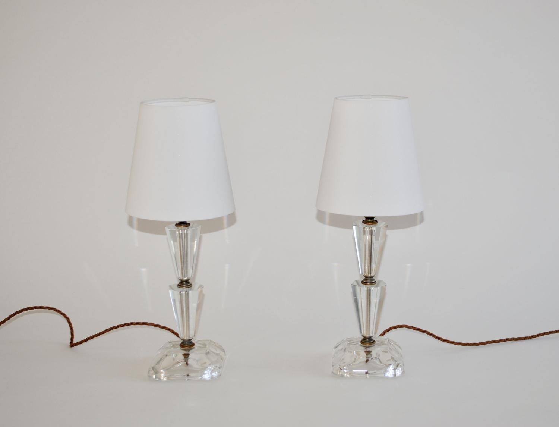 American Art Deco bedside lamps