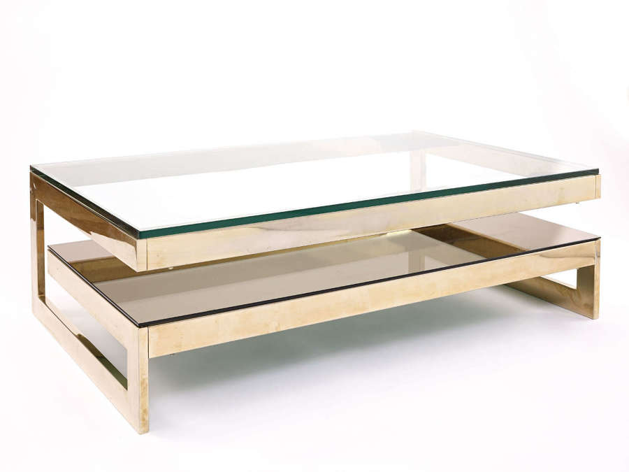 Gold plated coffee table