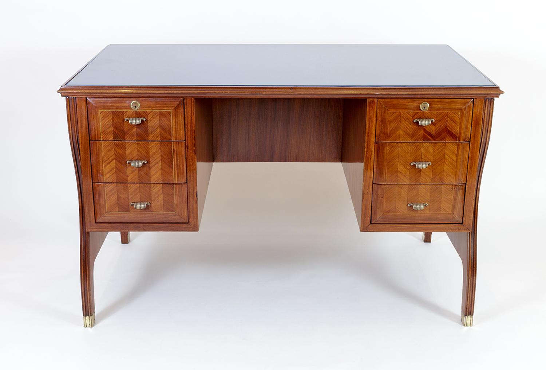 Italian Mid-Century Rosewood Desk