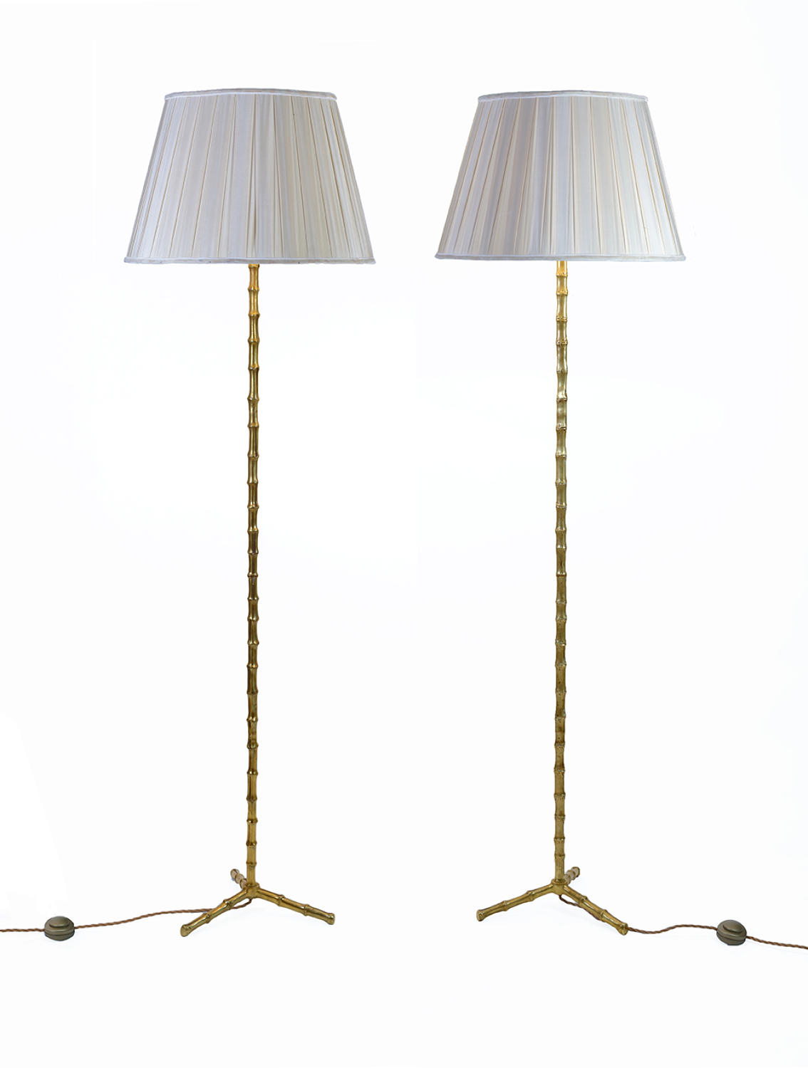 Pair of Bamboo Floor Lamps