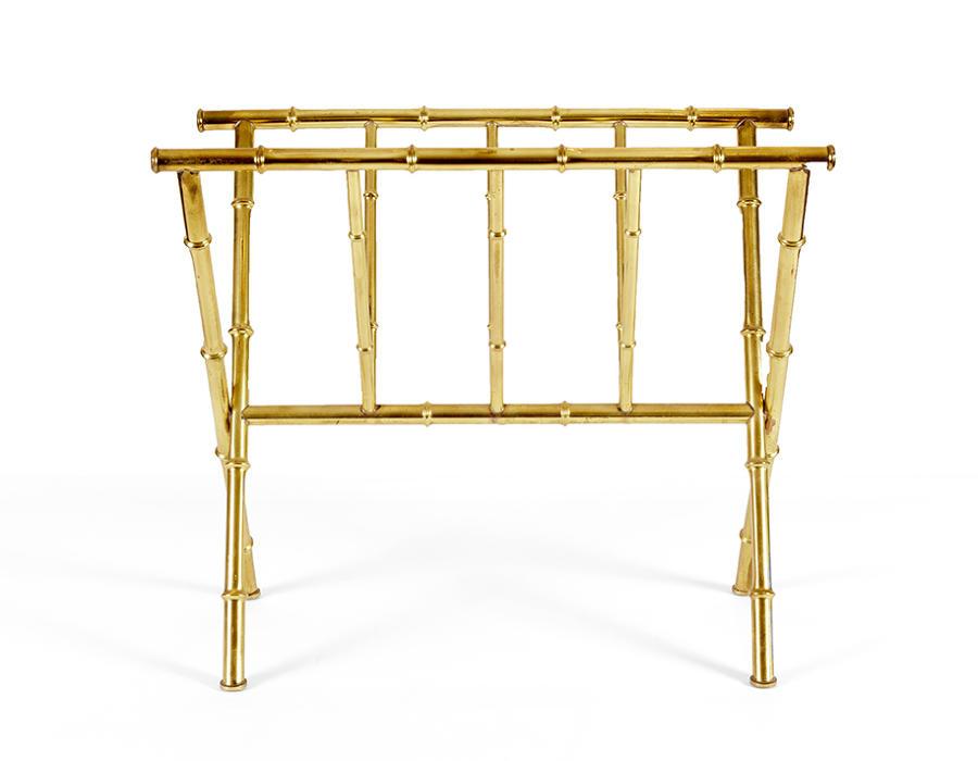 Faux bamboo magazine rack