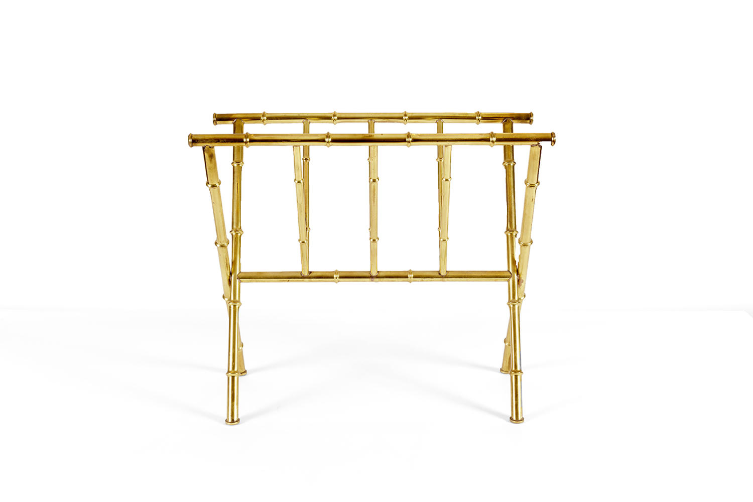 Faux bamboo magazine rack