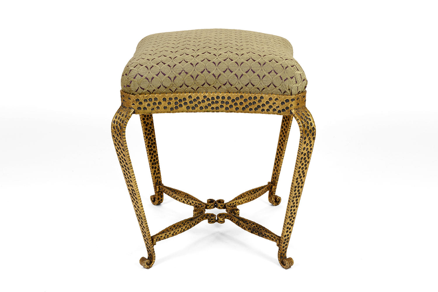 Gilt metal stool