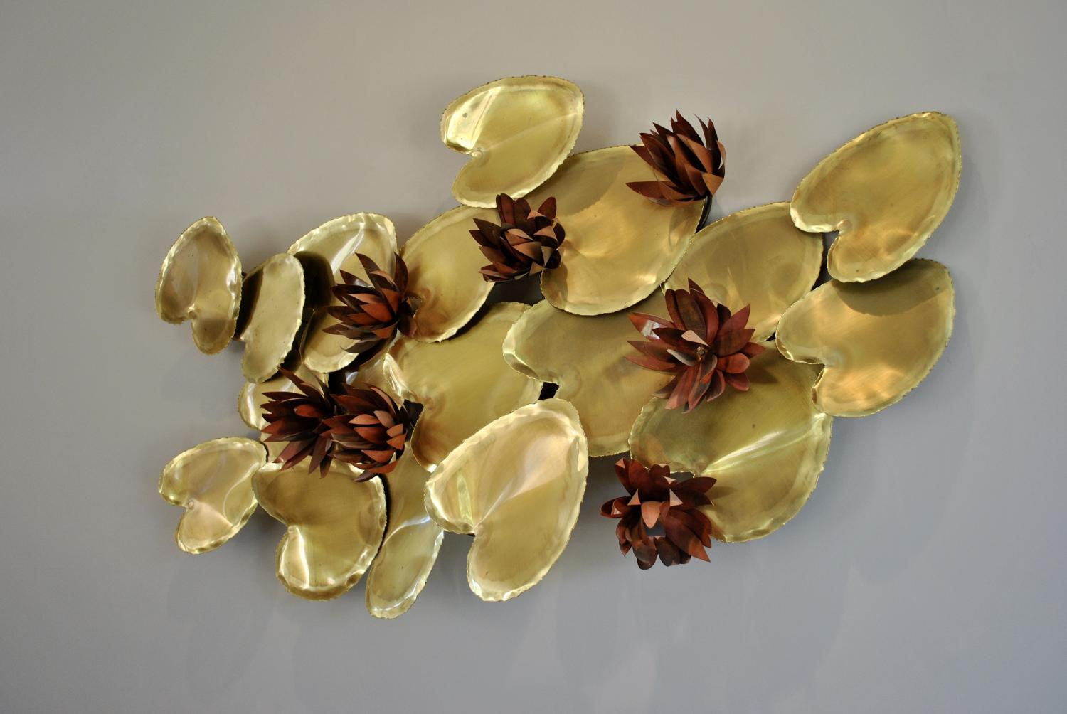 Brass Lily Wall Sculpture