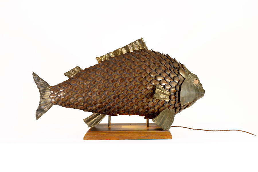 Large Brass Fish Light