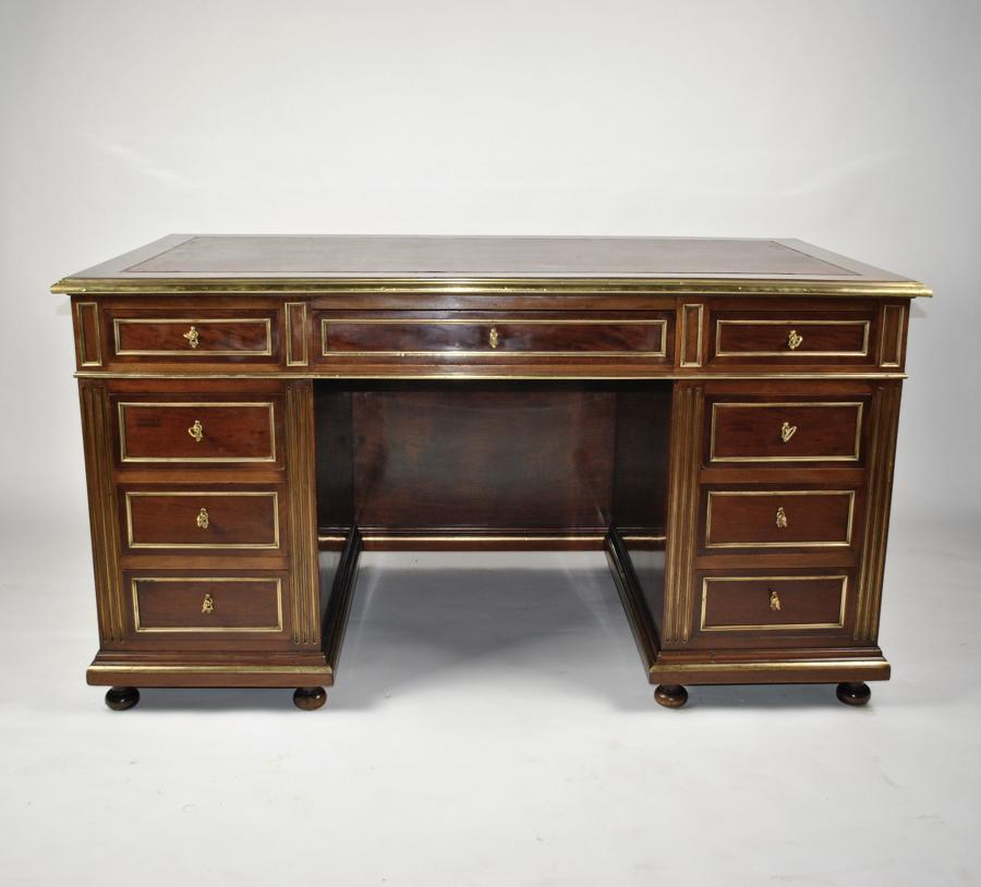 19th Century Brass Mounted Desk