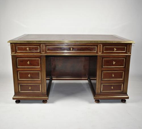 19th Century Brass Mounted Desk