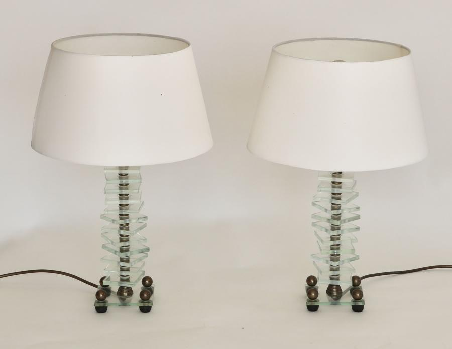 Pair Of French Art Deco Lamps