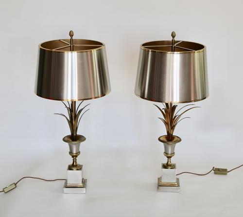 Matched Pair of Vase Roseaux By Maison Charles