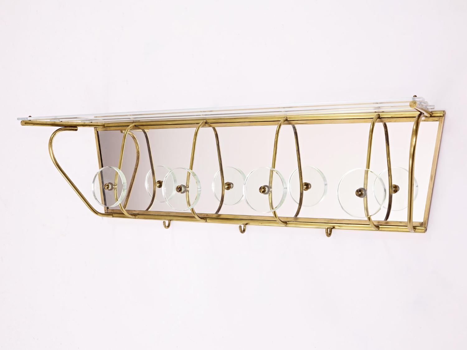 Brass Coat Rack and Hat Stand