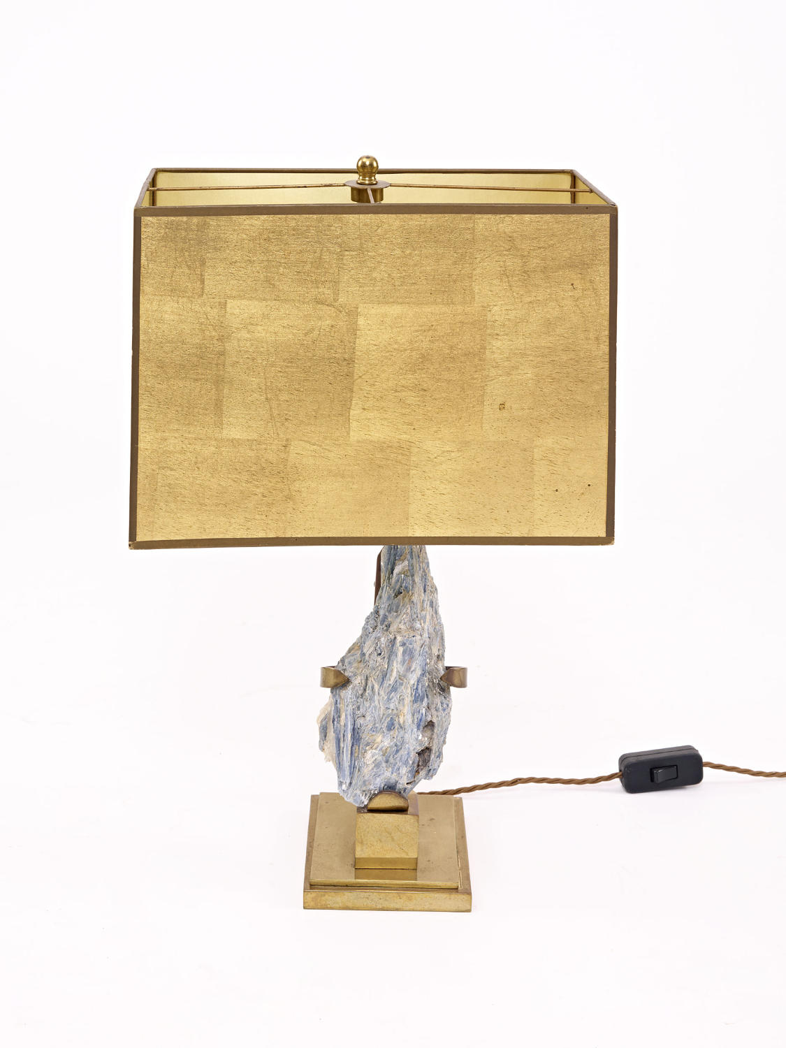 Brass and Specimen Table Lamp