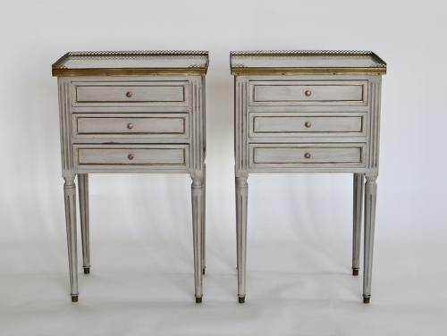Pair of Painted French Bedside Tables