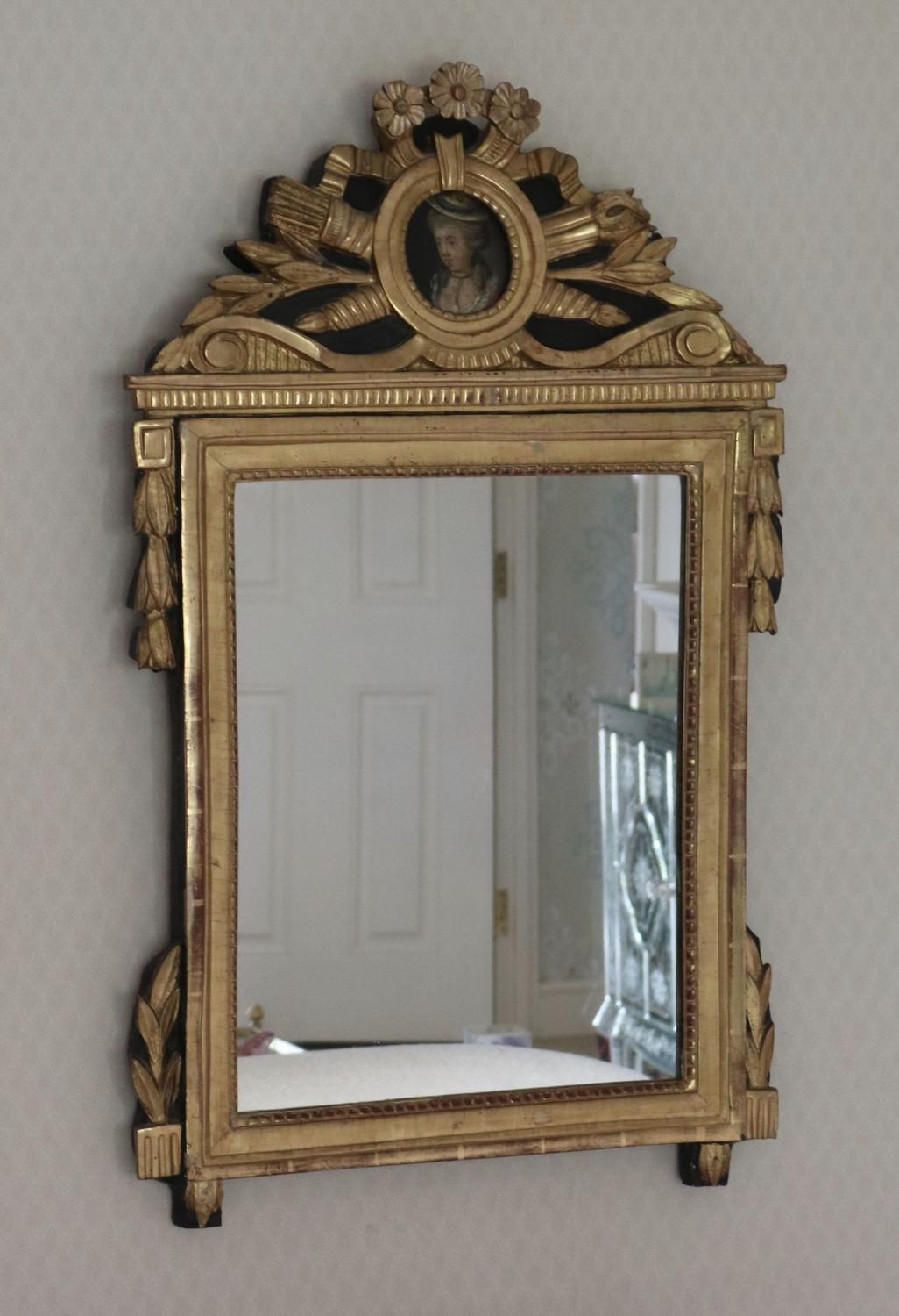 Carved Giltwood French Mirror