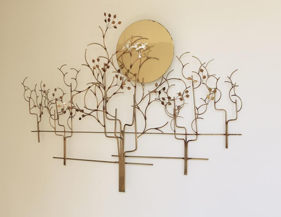 Sun and birds wall sculpture