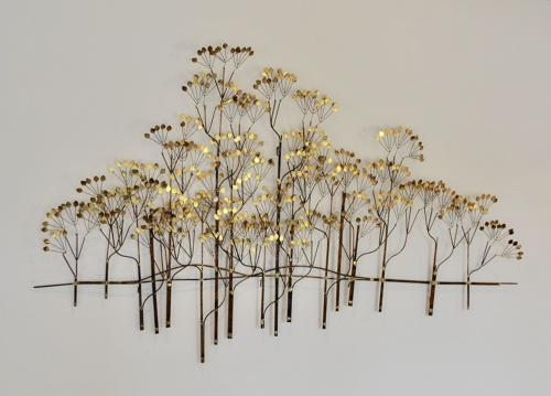 Tree wall sculpture by Curtis Jere