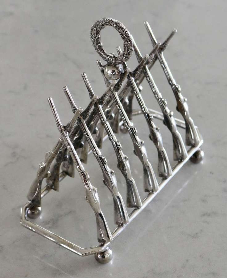 Large Silver Plate Toast Rack