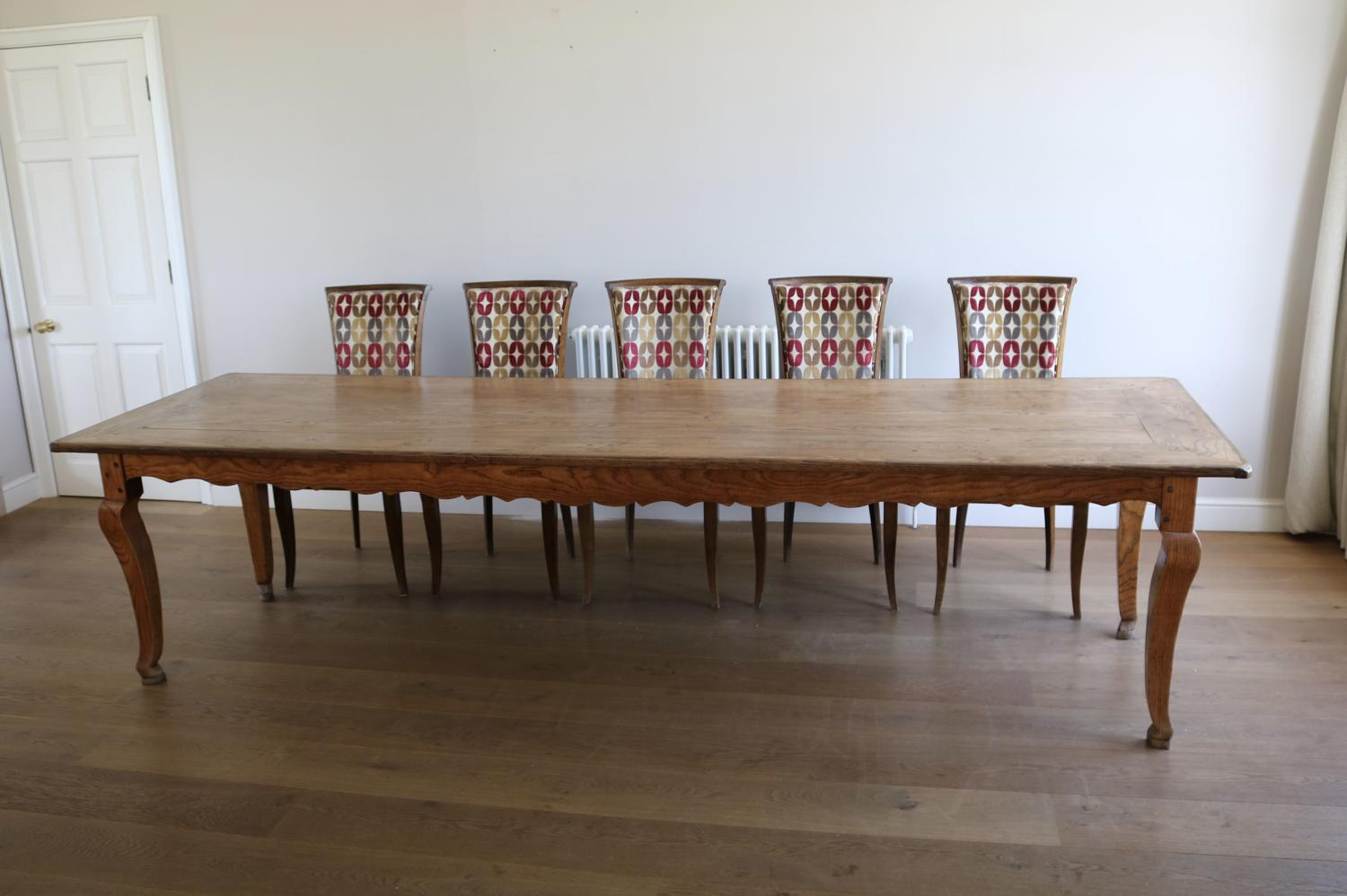 Large French Ash Dining Table
