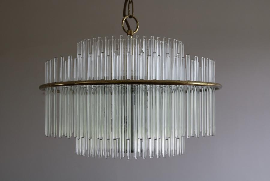 Sciolari Glass Rod Chandelier