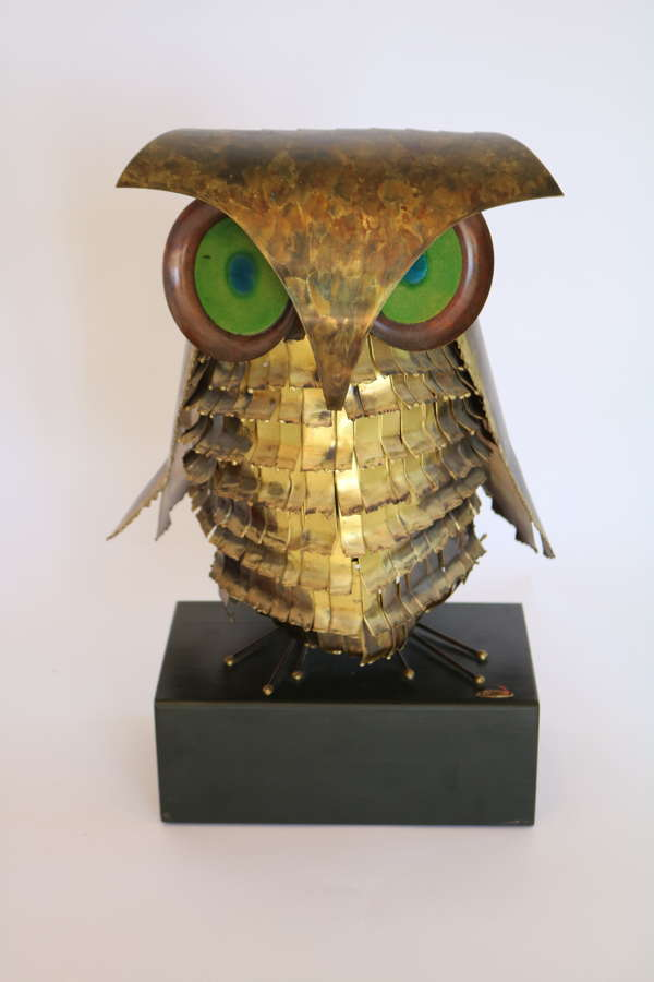 Curtis Jere Owl Sculpture
