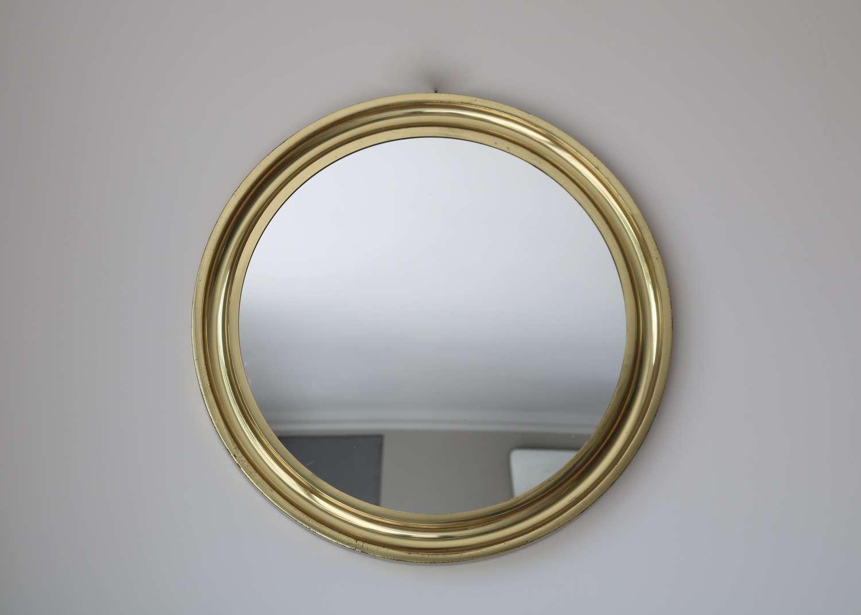 Circular Brass Mirror