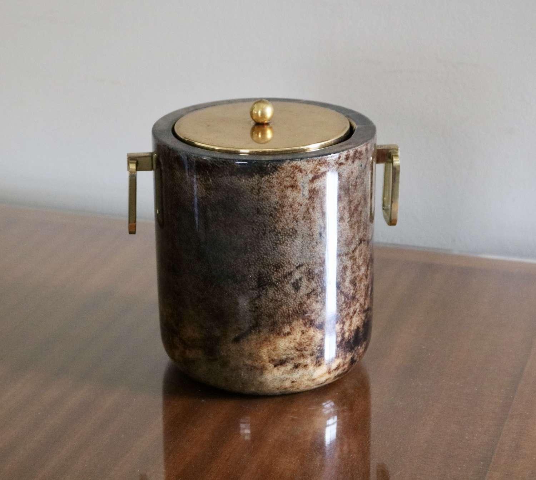 Aldo Tura Goatskin Ice Bucket