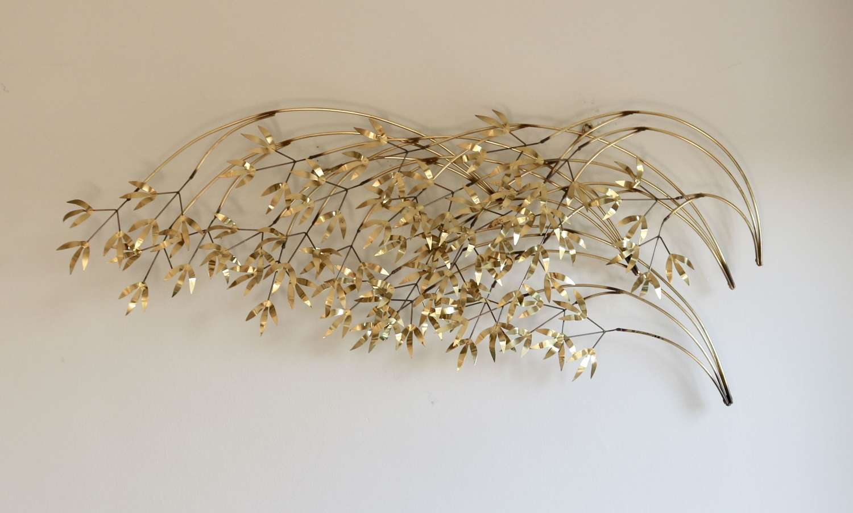 Brass and Metal Wall Sculpture