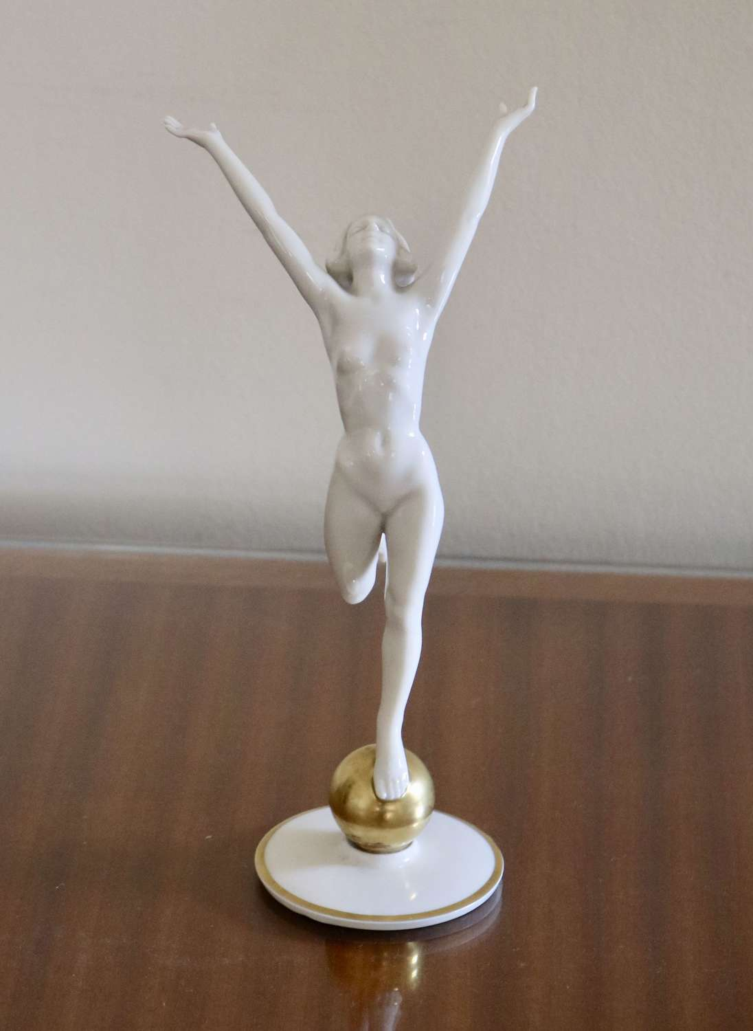 Art Deco Porcelain Nude Figure