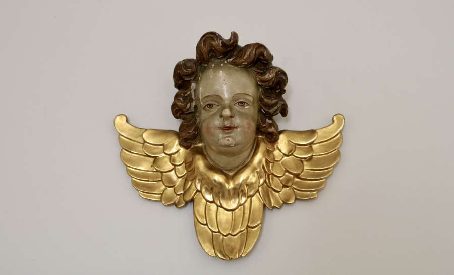 18th Century Polychrome Putti Sculpture